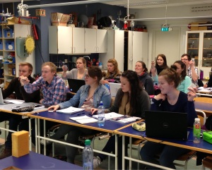 Students using clickers and PI in Norway